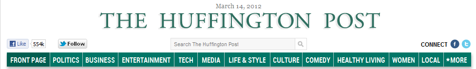 Catégories des blogs du Huffington Post